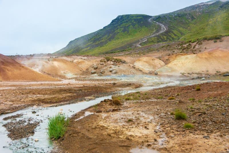 Seltun geotermiczny pole, Iceland fotografia royalty free