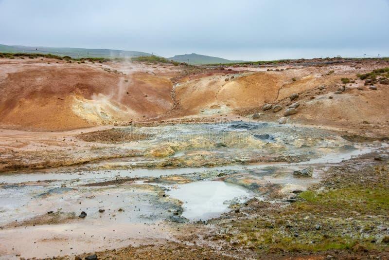 Seltun geotermiczny pole, Iceland zdjęcie stock