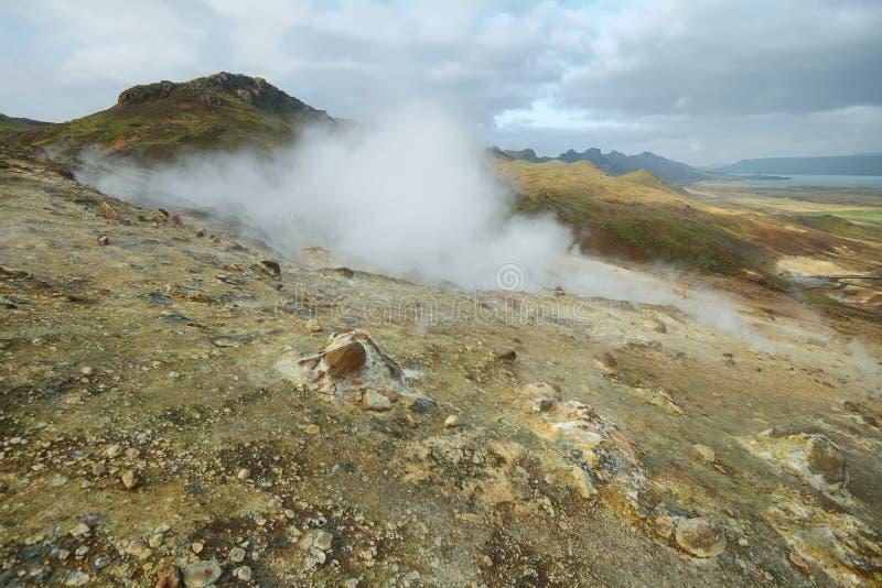 Seltun geotermiczny teren zdjęcie royalty free