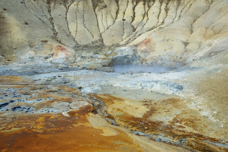 Seltun geotermiczny teren zdjęcia royalty free