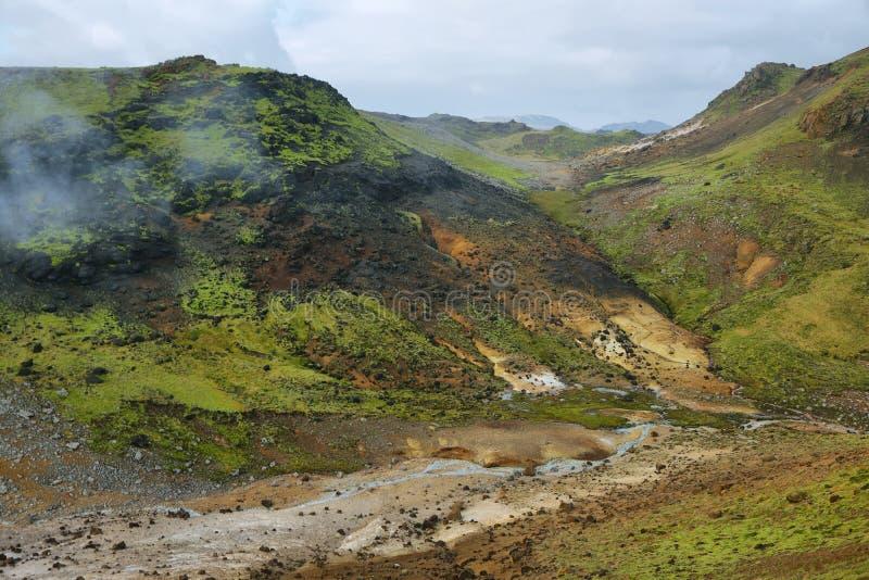 Seltun geotermiczny teren obrazy stock