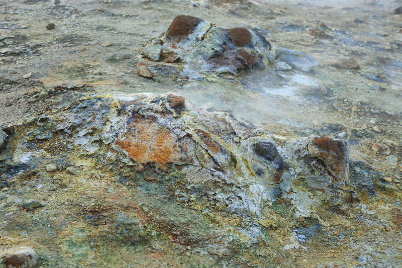 Seltun geotermiczny teren fotografia royalty free