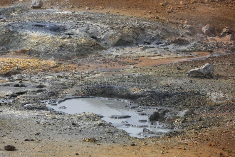 Seltun geotermiczny teren zdjęcie stock
