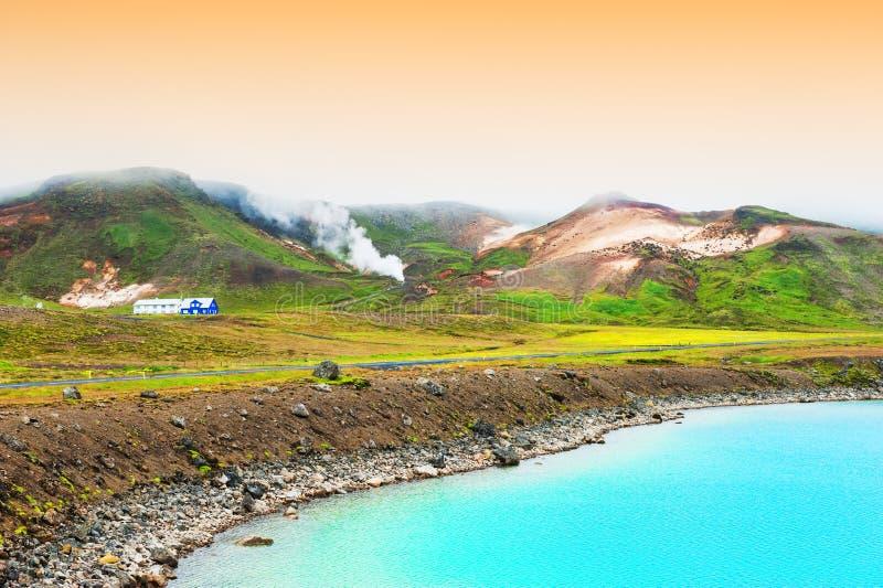 Seltun geotermiczny teren w Iceland fotografia stock