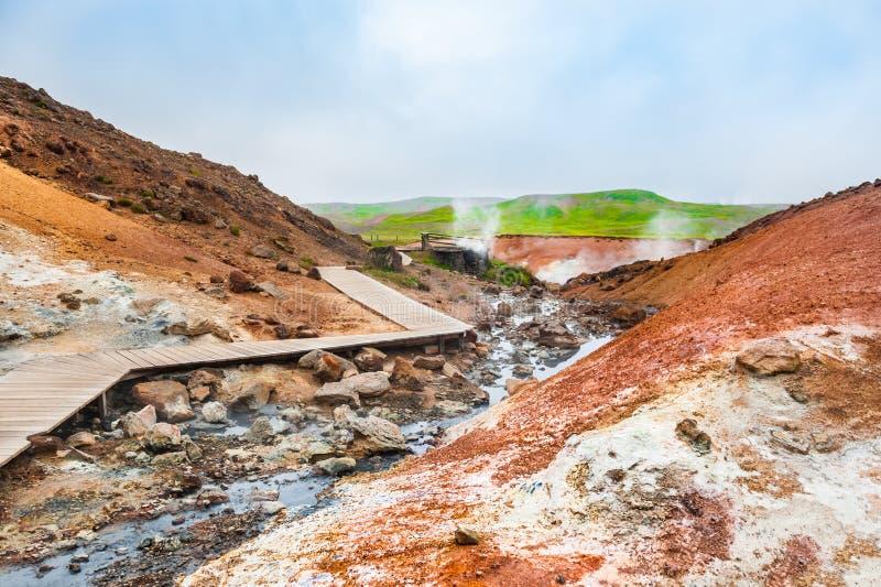 Seltun geotermiczny teren w Iceland obraz stock