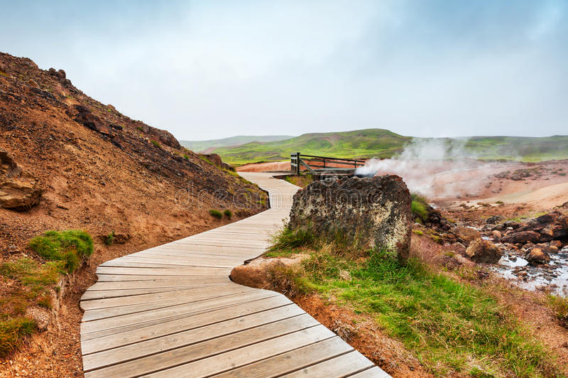 Seltun geotermiczny teren w Iceland zdjęcie stock
