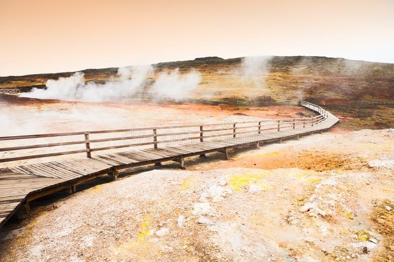 Seltun geotermiczny teren w Iceland obraz royalty free