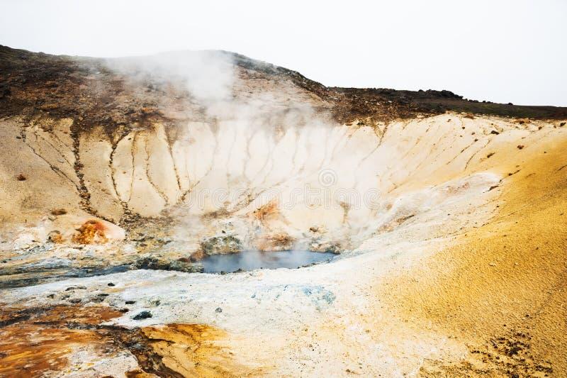 Seltun geotermiczny teren w Krysuvik, Iceland obraz royalty free