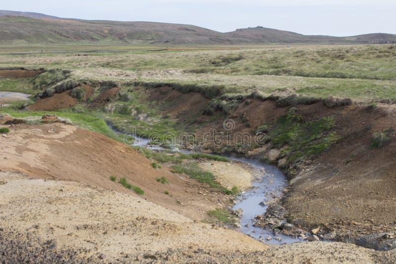Seltun geotermiczny teren w Reykjanes obrazy royalty free