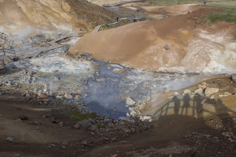 Seltun geotermiczny teren w Reykjanes zdjęcie stock