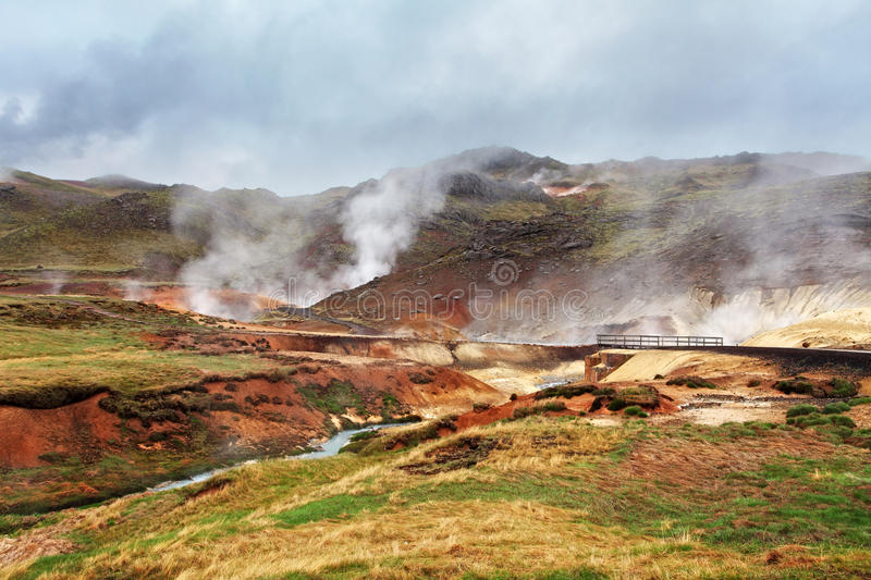 Seltun, Iceland - active volcanic area in Reykjanes peninsula stock images