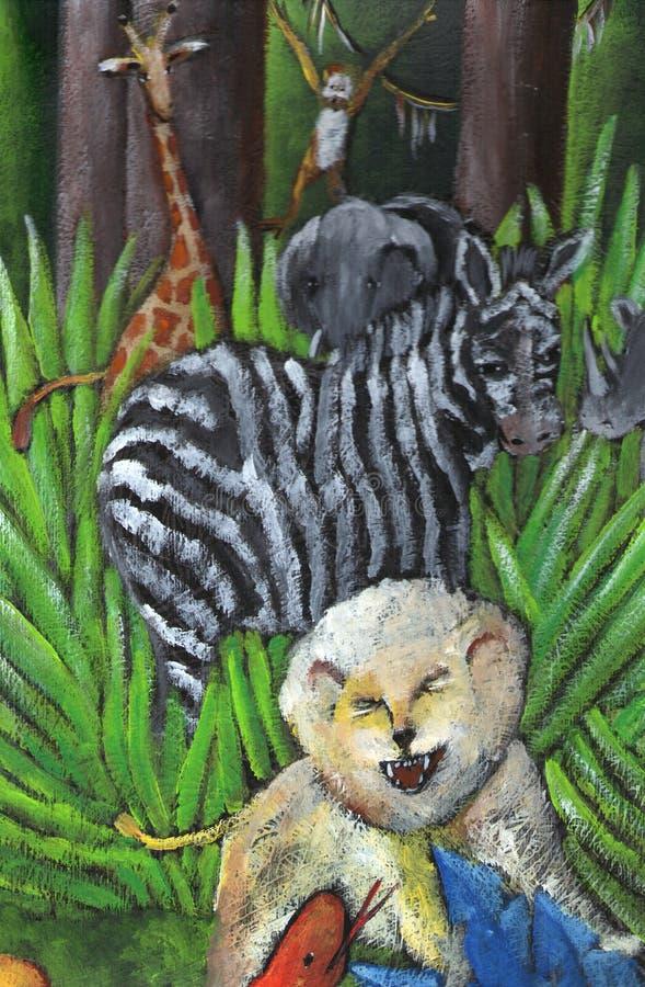 Selva ilustração stock