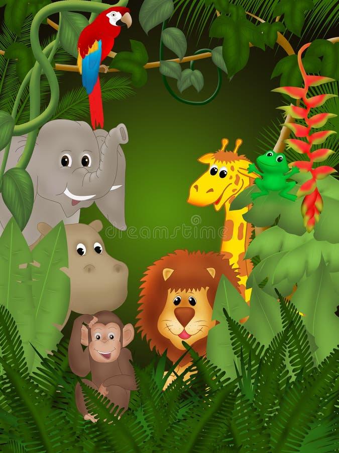 Selva ilustração royalty free