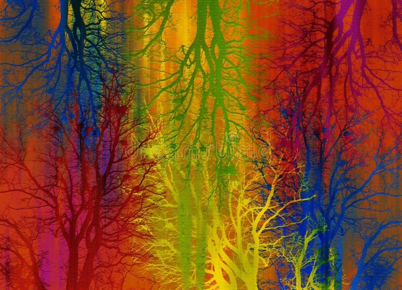 Selva abstracta ilustración del vector