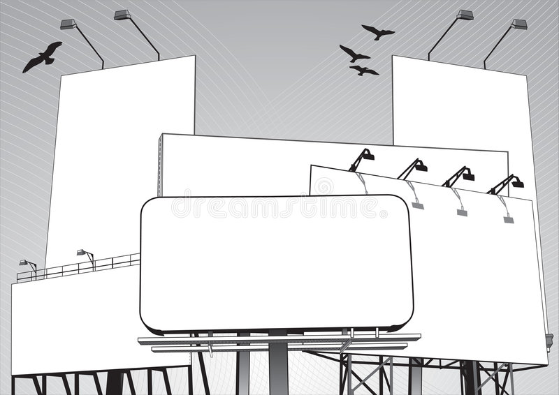 Selva de la cartelera en vector imagen de archivo
