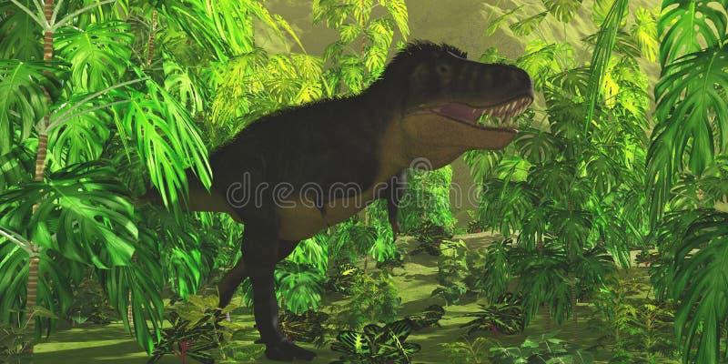 Selva del tiranosaurio stock de ilustración