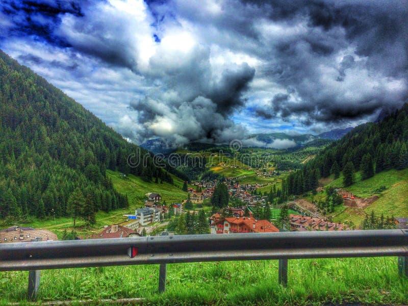 Selva di Val Gardena immagine stock libera da diritti