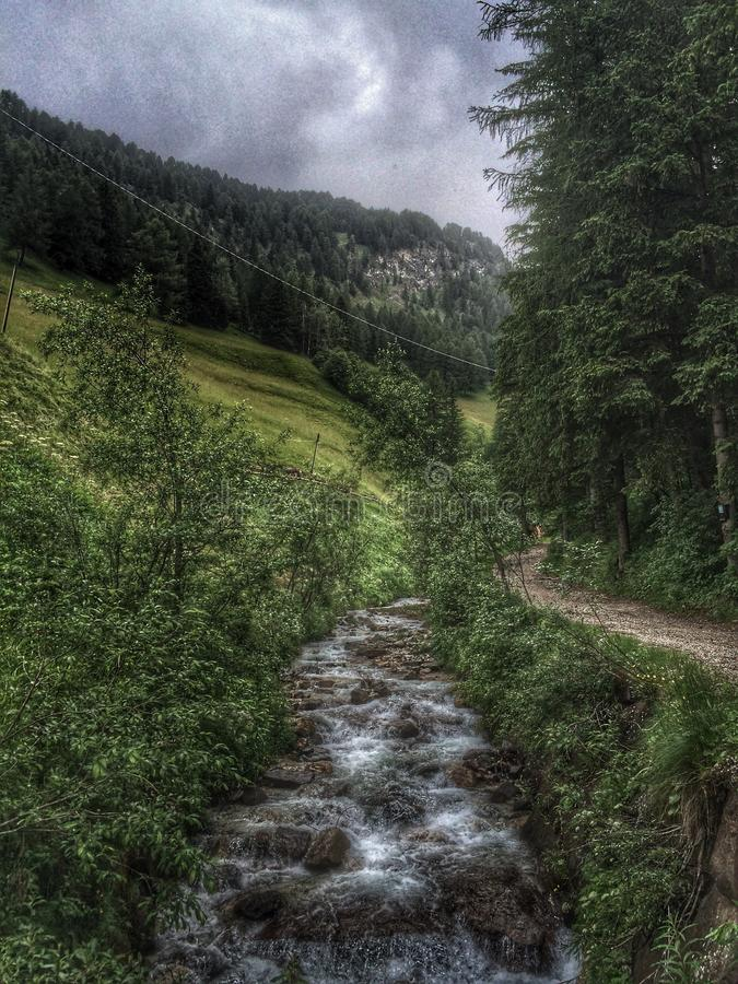 Selva di Val Gardena, Italia immagini stock