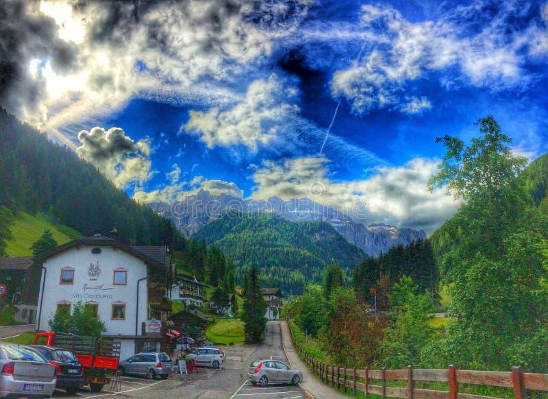 Selva di Val Gardena, Italien stockfotografie