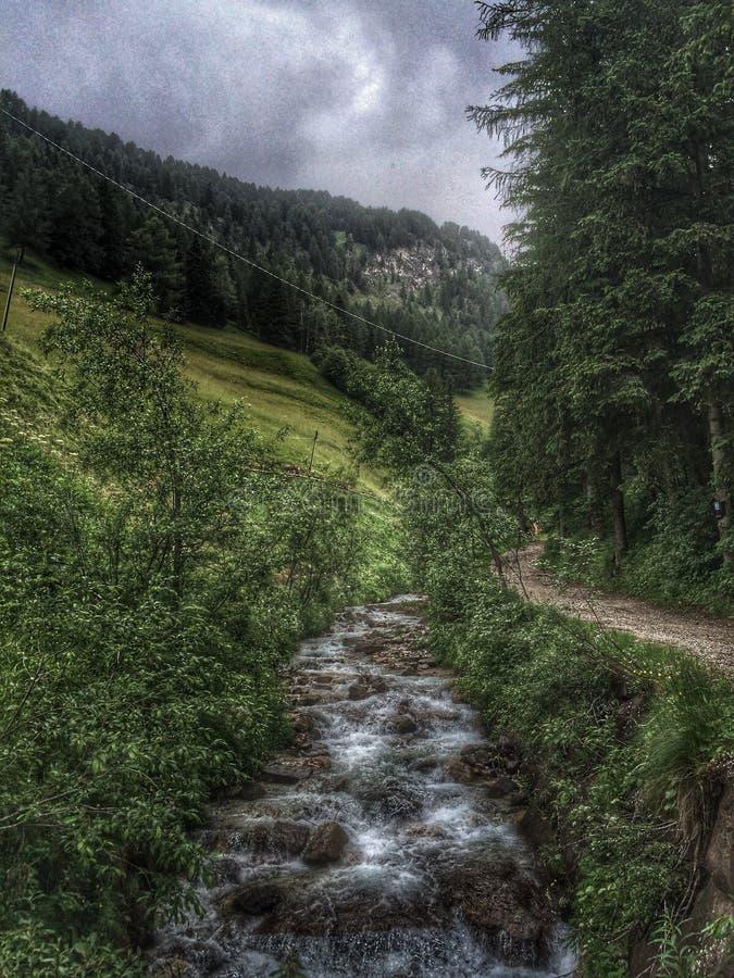 Selva di Val Gardena, Italien stockbilder