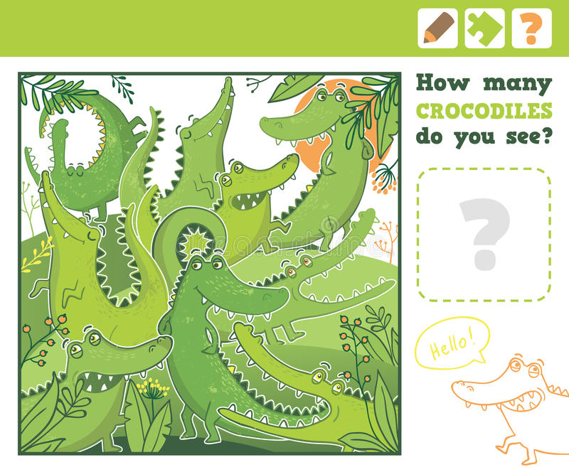 selva Educação que conta o jogo para crianças ilustração royalty free