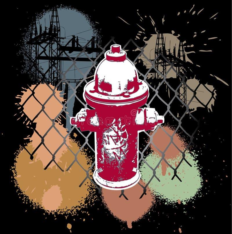 Selva urbana Grunge stock de ilustración