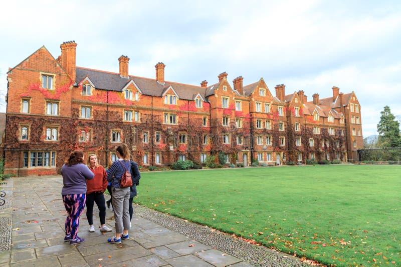 Selwyn College a établi en 1882 images libres de droits