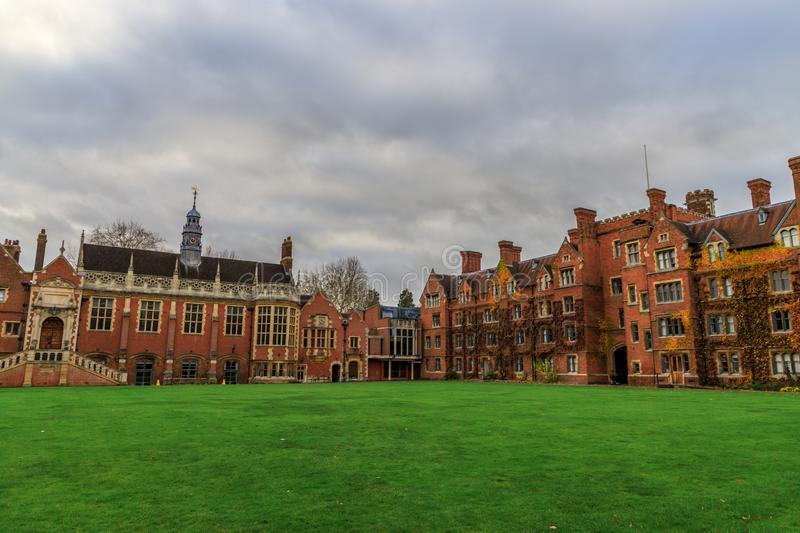 Selwyn College established in 1882. It is a constituent college in the University of Cambridge in England royalty free stock photos