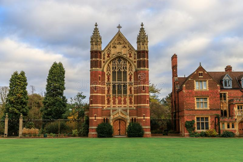 Selwyn College established in 1882. It is a constituent college in the University of Cambridge in England stock photos