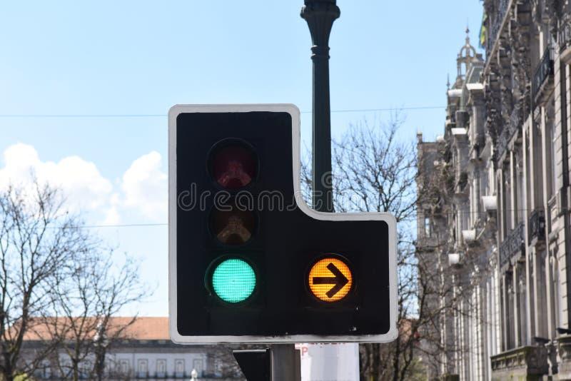 Semáforo, Oporto, fotografía de archivo libre de regalías