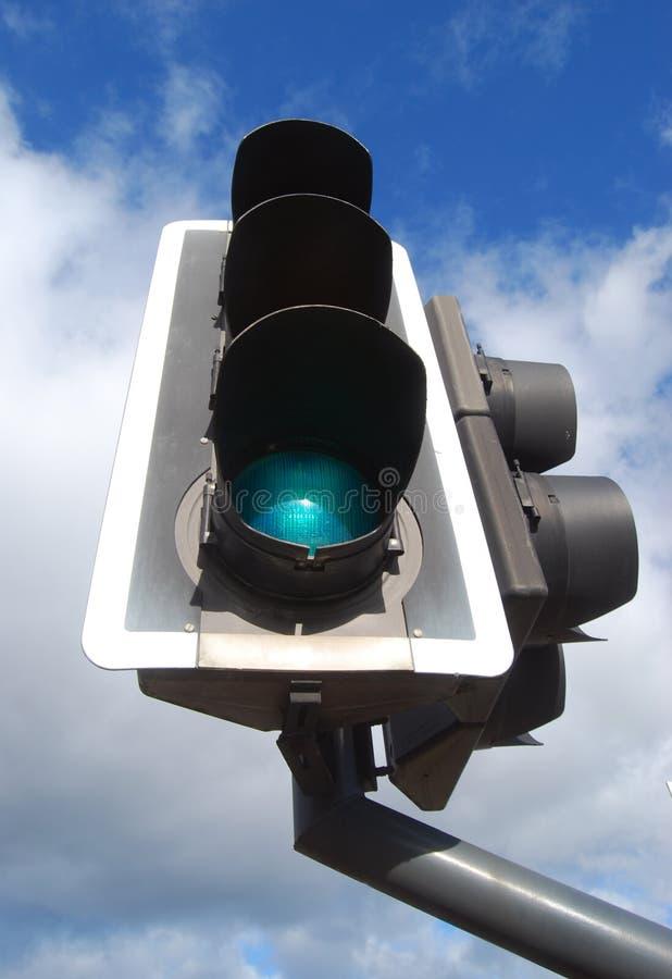 Semáforo verde fotos de archivo