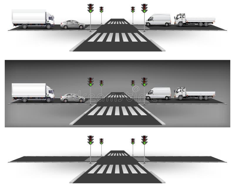 Semáforos verdes ilustración del vector