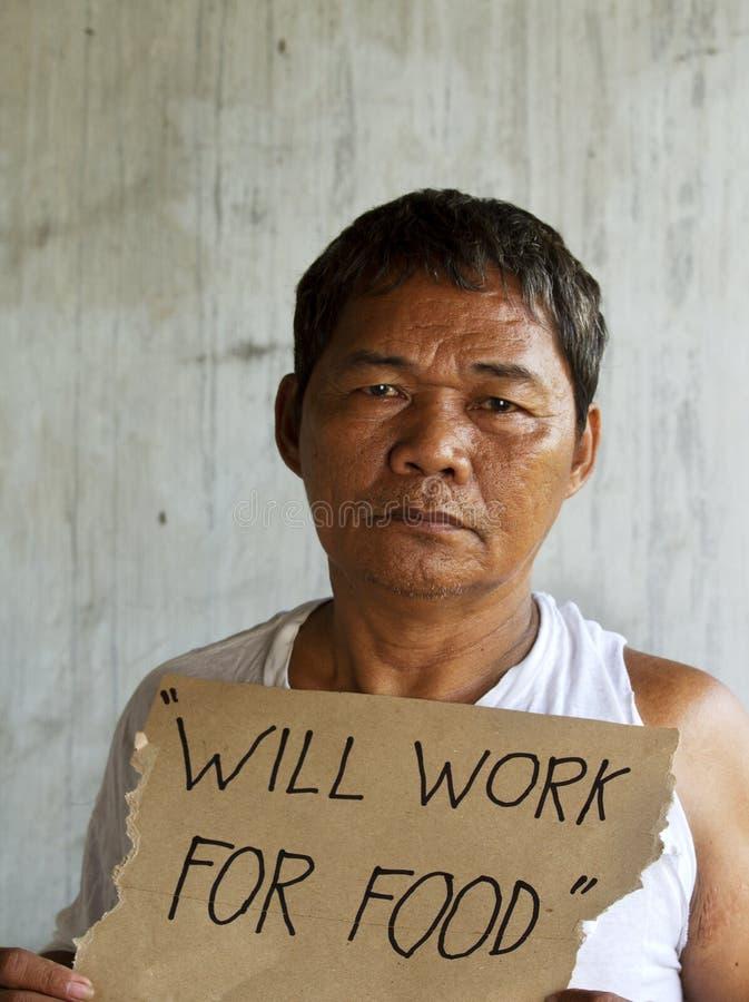 Sem abrigo, desempregado e com fome fotografia de stock royalty free