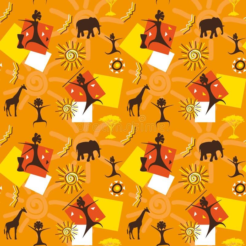 Sem emenda africano ilustração stock