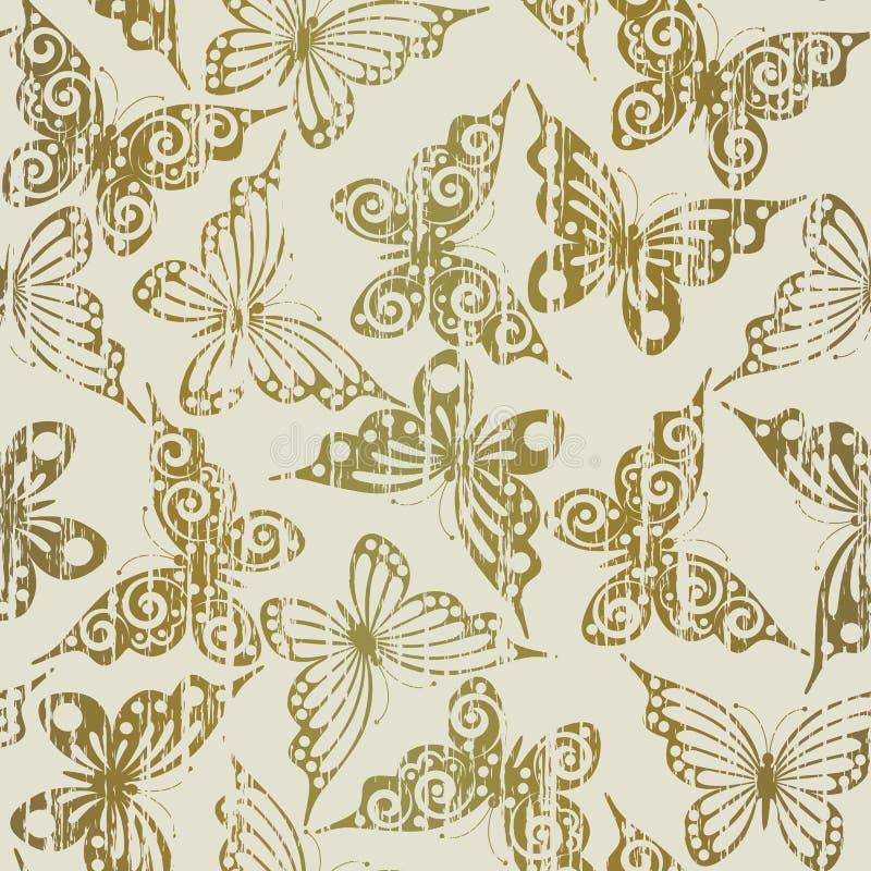 Sem emenda com borboletas ilustração stock