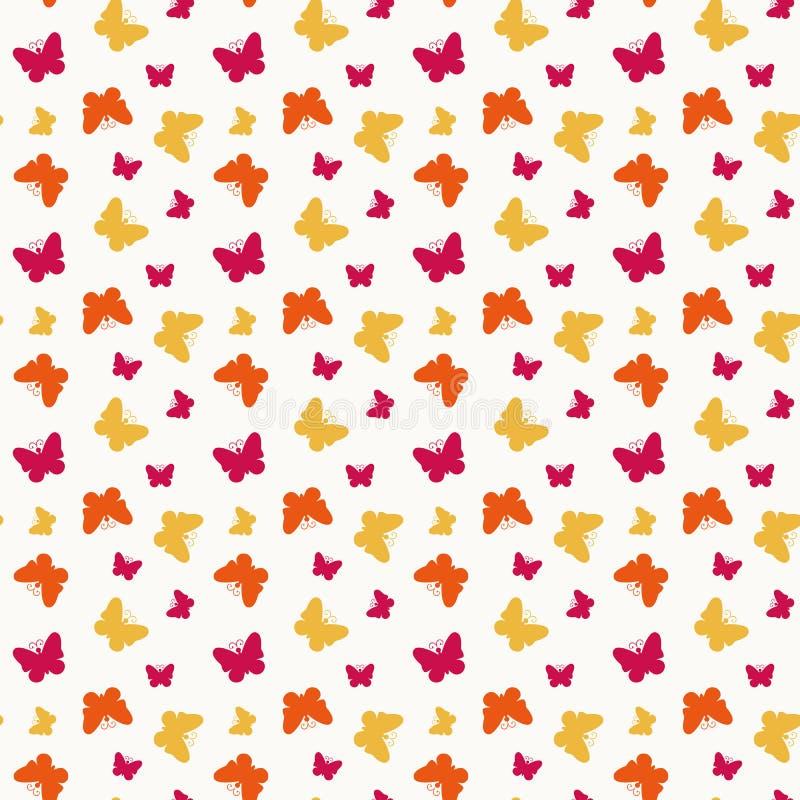 Sem emenda com borboletas. Ilustração do vetor. ilustração do vetor