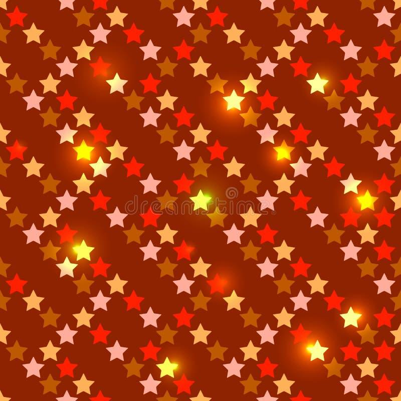 Sem emenda com estrelas brilhantes ilustração stock