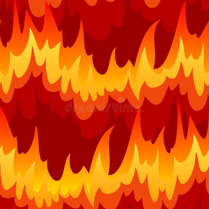 Sem emenda com incêndio ilustração royalty free