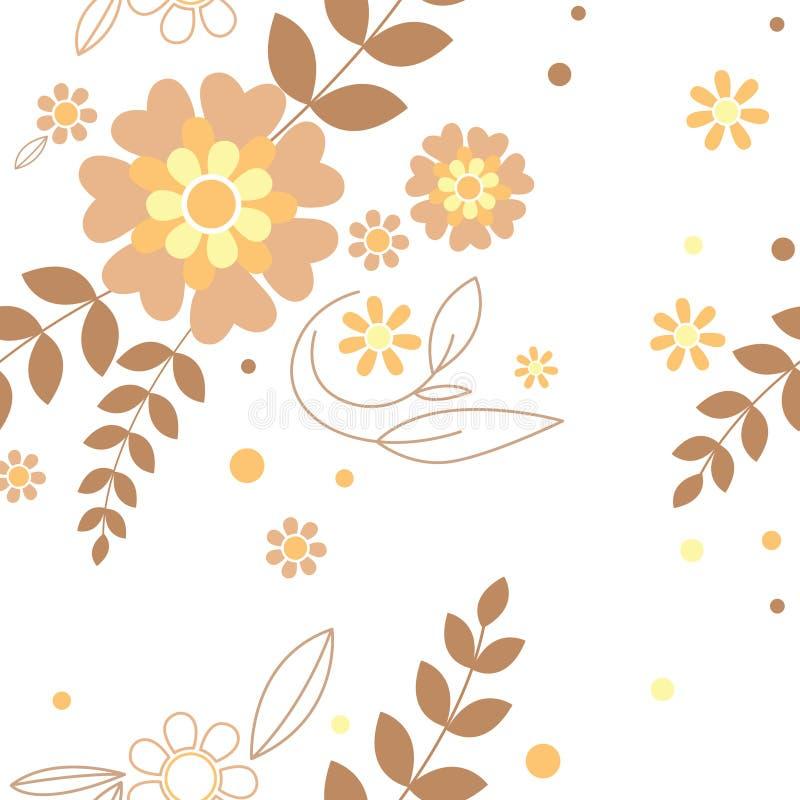 Sem emenda floral ilustração stock