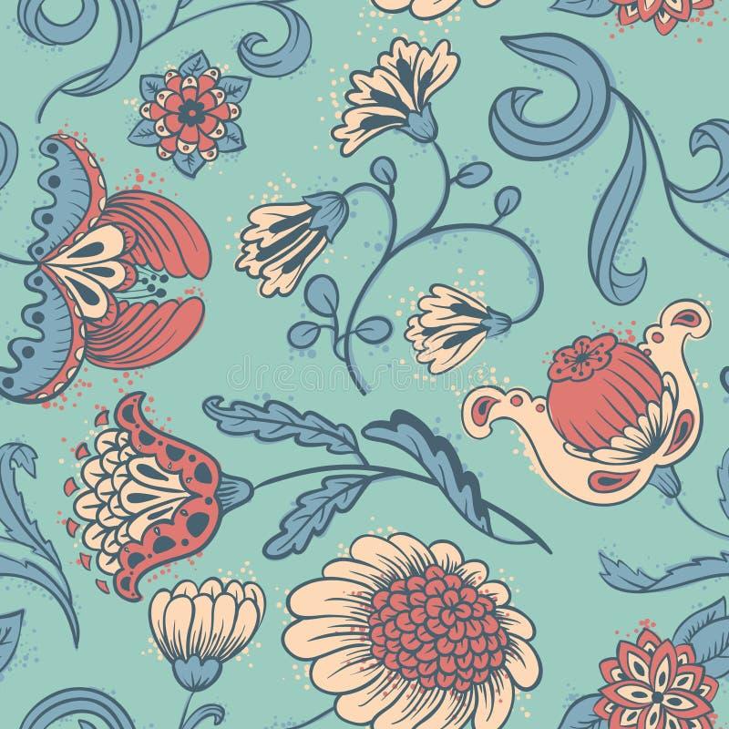 Sem emenda floral ilustração royalty free
