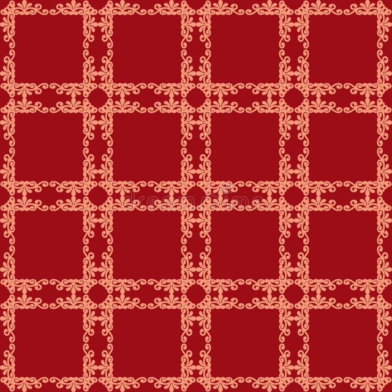 Sem emenda floral no backgroun da textura do teste padrão do projeto do estilo do damasco ilustração stock