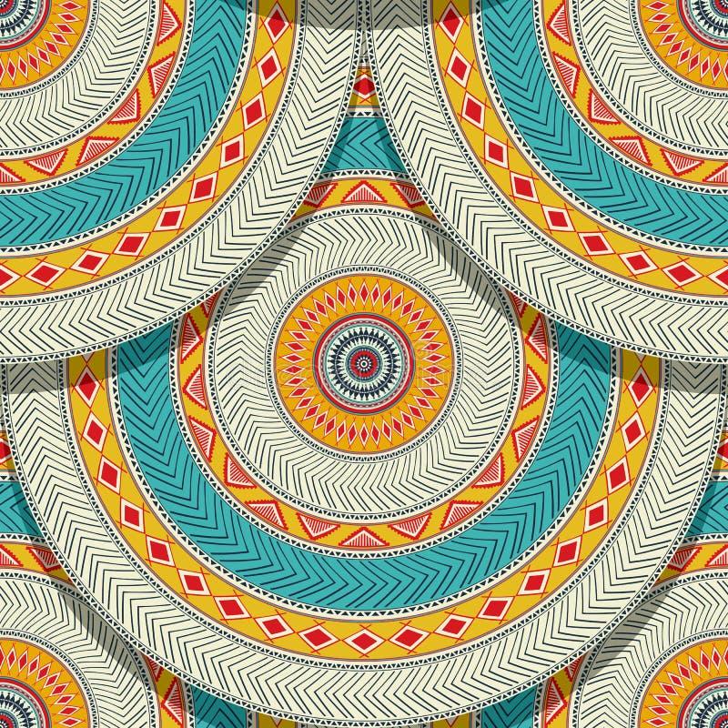 Sem emenda geométrico étnico tribal ilustração stock
