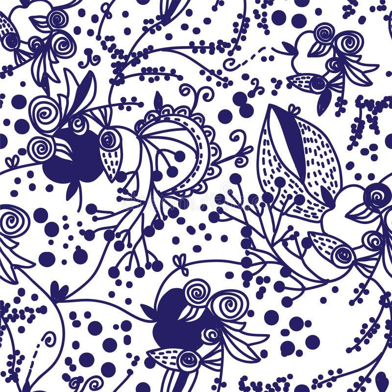 Download Sem Emenda Gráfico Floral Com Maçãs Ilustração do Vetor - Ilustração de arte, beleza: 26510296