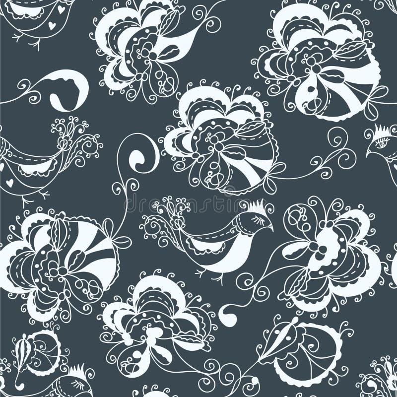 Sem emenda tradicional ornamentado floral ilustração stock