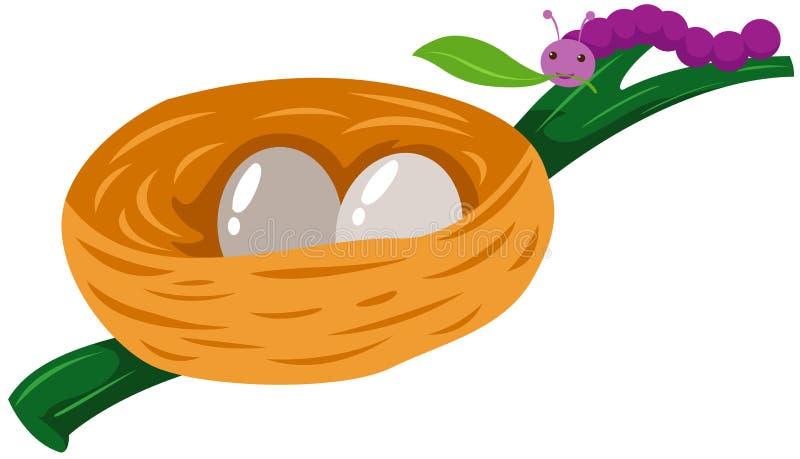 Sem-fim com o ninho dos ovos ilustração royalty free