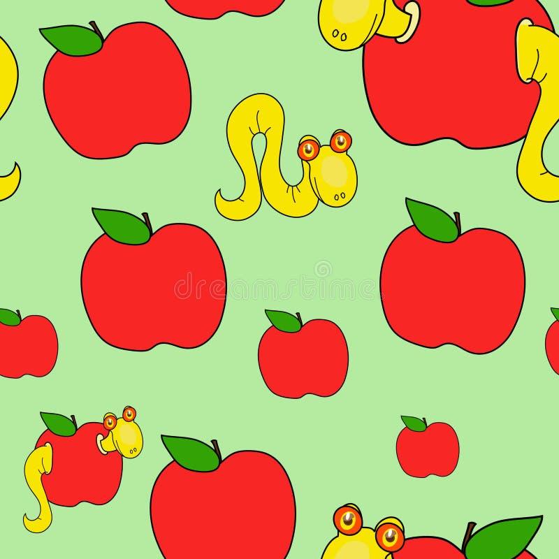 Sem-fins e maçãs ilustração do vetor