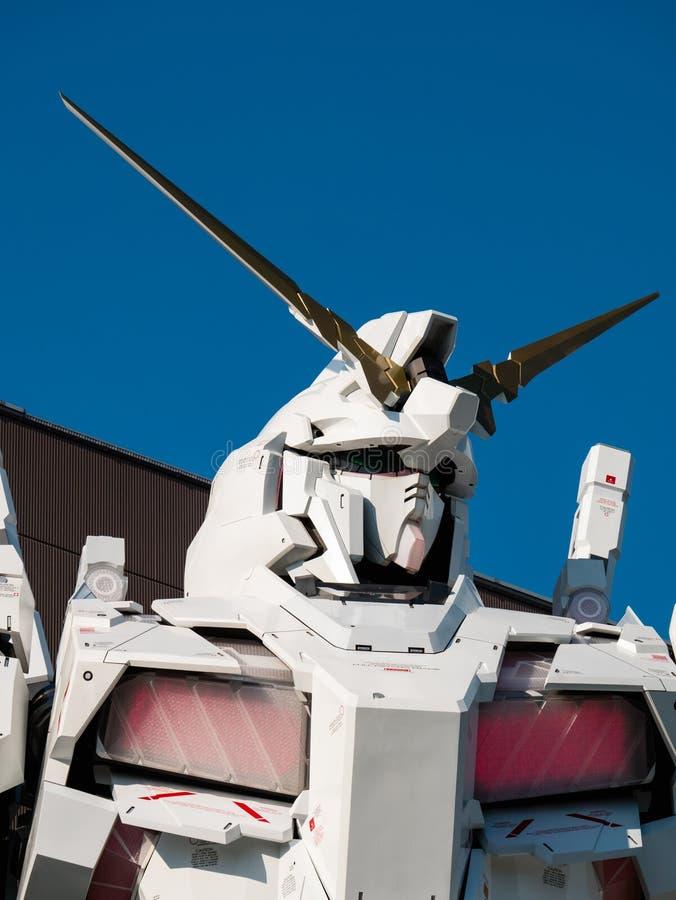 Sem redução de RX-0 Unicorn Gundam no mergulhador City Tokyo Plaza no Od imagens de stock royalty free