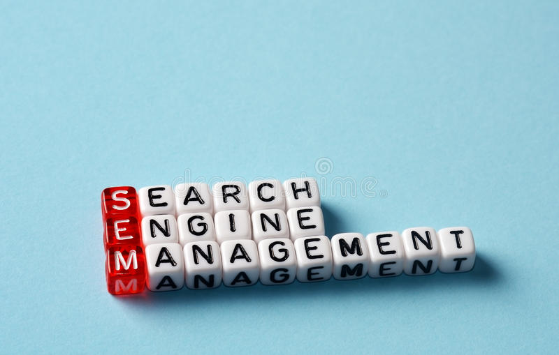 SEM Search Engine Management stock images