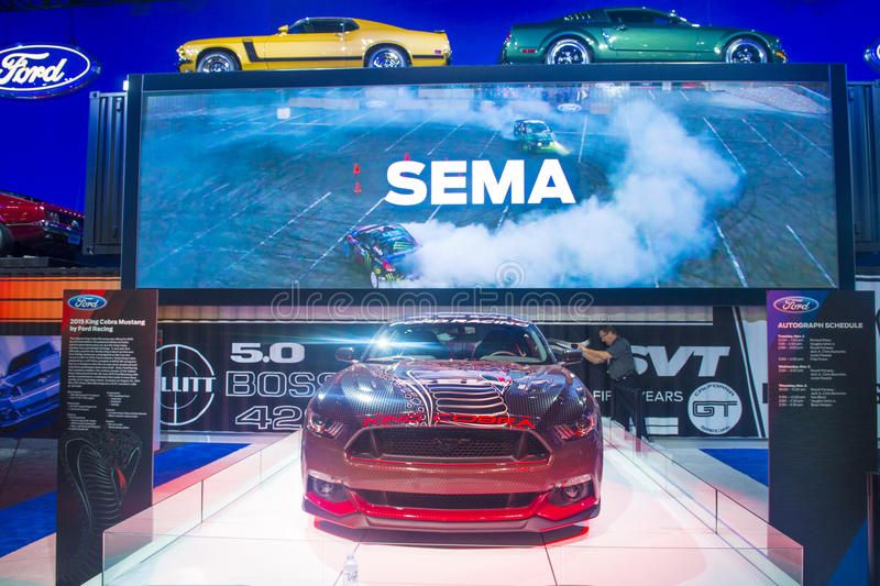SEMA car show 2014 royalty free stock photography
