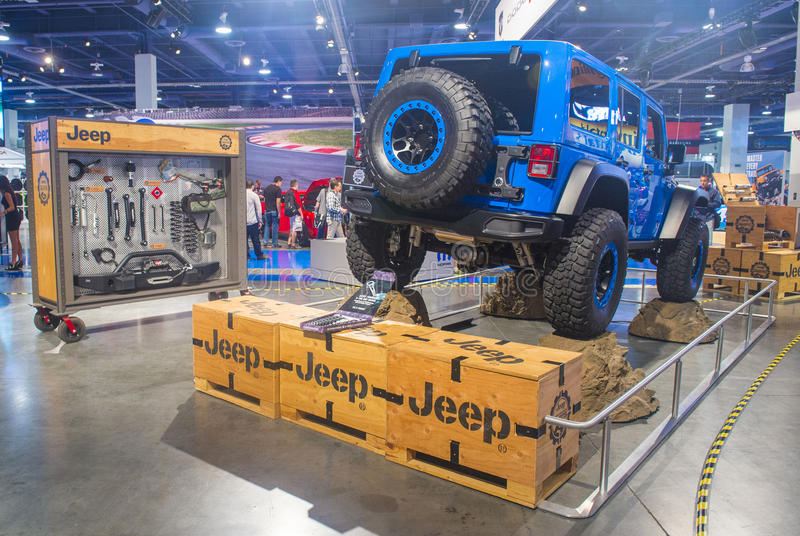 SEMA car show 2014 stock image